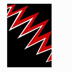 Black and red simple design Large Garden Flag (Two Sides)