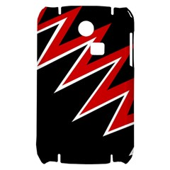 Black and red simple design Samsung S3350 Hardshell Case