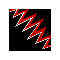 Black and red simple design Acrylic Tangram Puzzle (4  x 4 )