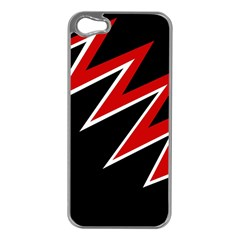 Black and red simple design Apple iPhone 5 Case (Silver)