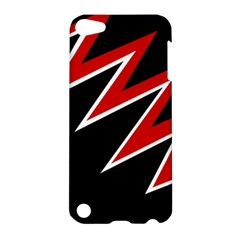 Black and red simple design Apple iPod Touch 5 Hardshell Case
