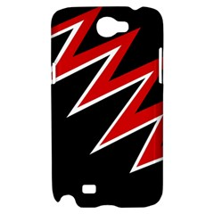 Black and red simple design Samsung Galaxy Note 2 Hardshell Case