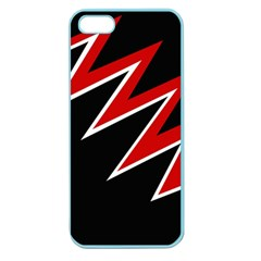 Black and red simple design Apple Seamless iPhone 5 Case (Color)