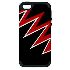 Black and red simple design Apple iPhone 5 Hardshell Case (PC+Silicone)