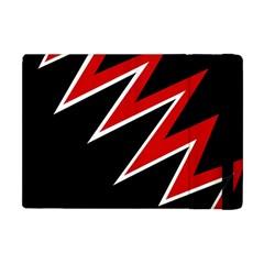 Black and red simple design Apple iPad Mini Flip Case