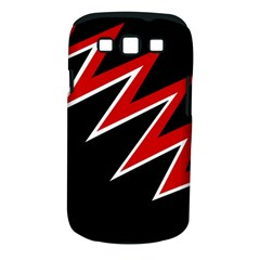 Black and red simple design Samsung Galaxy S III Classic Hardshell Case (PC+Silicone)