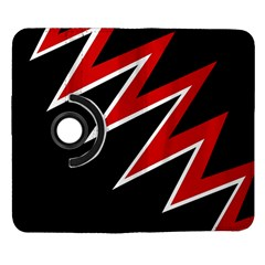 Black and red simple design Samsung Galaxy Note II Flip 360 Case