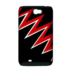 Black and red simple design Samsung Galaxy Note 2 Hardshell Case (PC+Silicone)