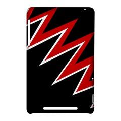 Black and red simple design Nexus 7 (2012)