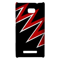 Black and red simple design HTC 8X