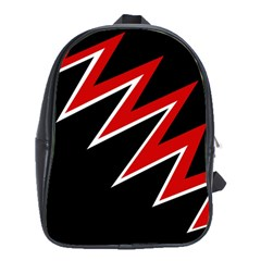 Black and red simple design School Bags (XL)
