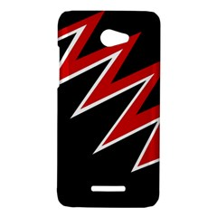 Black and red simple design HTC Butterfly X920E Hardshell Case