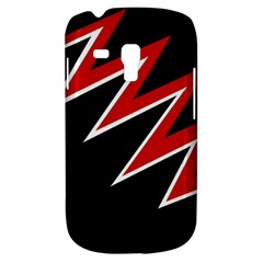 Black and red simple design Samsung Galaxy S3 MINI I8190 Hardshell Case