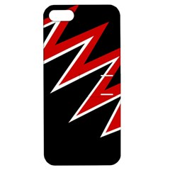 Black and red simple design Apple iPhone 5 Hardshell Case with Stand