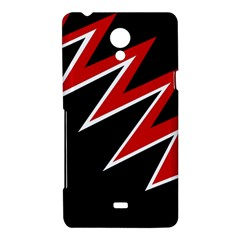 Black and red simple design Sony Xperia T