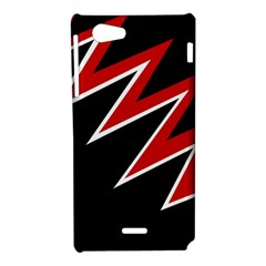 Black and red simple design Sony Xperia J