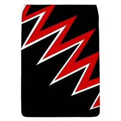 Black and red simple design Flap Covers (S)
