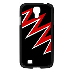 Black and red simple design Samsung Galaxy S4 I9500/ I9505 Case (Black)