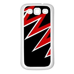 Black and red simple design Samsung Galaxy S3 Back Case (White)