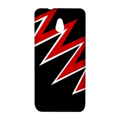 Black and red simple design HTC One Mini (601e) M4 Hardshell Case