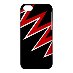 Black and red simple design Apple iPhone 5C Hardshell Case