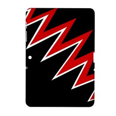 Black and red simple design Samsung Galaxy Tab 2 (10.1 ) P5100 Hardshell Case