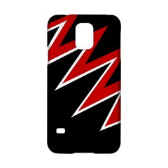 Black and red simple design Samsung Galaxy S5 Hardshell Case