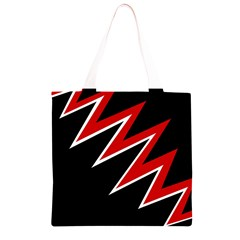 Black and red simple design Grocery Light Tote Bag