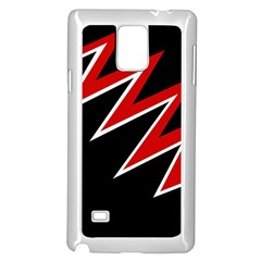 Black and red simple design Samsung Galaxy Note 4 Case (White)