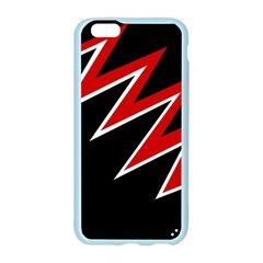 Black and red simple design Apple Seamless iPhone 6/6S Case (Color)