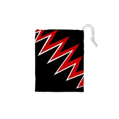 Black and red simple design Drawstring Pouches (XS)