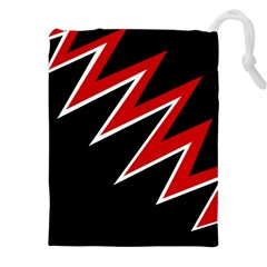 Black and red simple design Drawstring Pouches (XXL)
