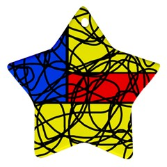 Yellow abstract pattern Ornament (Star)