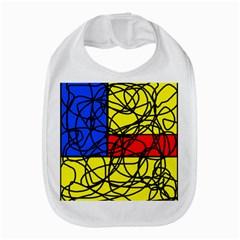 Yellow Abstract Pattern Bib