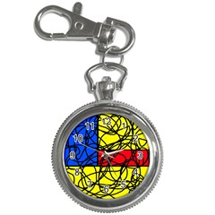 Yellow abstract pattern Key Chain Watches