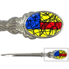 Yellow abstract pattern Letter Openers