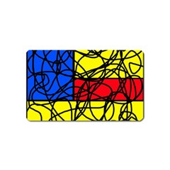 Yellow abstract pattern Magnet (Name Card)