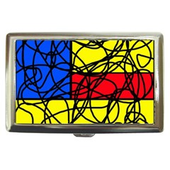 Yellow abstract pattern Cigarette Money Cases
