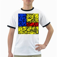 Yellow abstract pattern Ringer T-Shirts