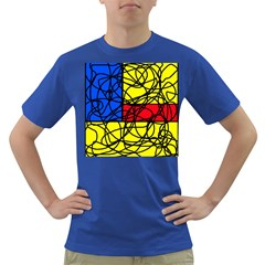 Yellow abstract pattern Dark T-Shirt