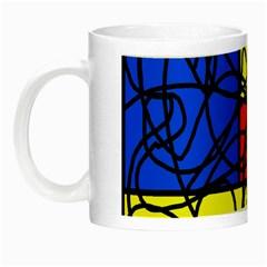 Yellow abstract pattern Night Luminous Mugs
