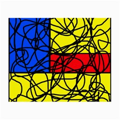 Yellow abstract pattern Small Glasses Cloth