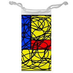 Yellow abstract pattern Jewelry Bags