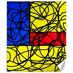 Yellow abstract pattern Canvas 8  x 10