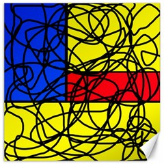 Yellow abstract pattern Canvas 20  x 20