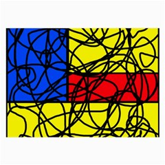 Yellow abstract pattern Large Glasses Cloth (2-Side)