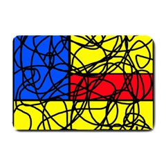 Yellow abstract pattern Small Doormat