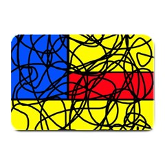 Yellow abstract pattern Plate Mats