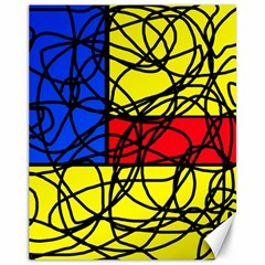 Yellow abstract pattern Canvas 11  x 14