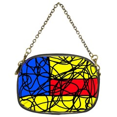 Yellow abstract pattern Chain Purses (One Side)